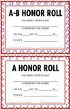 Certificados do rolo de honra Fotos de Stock Royalty Free