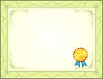 Certificat illustration stock
