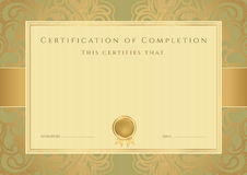 Certificat Photo stock