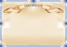 Certificat photographie stock