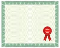 Certificat avec le sceau Photos libres de droits