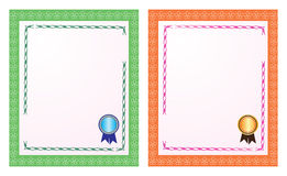 Certificat blanc Photos stock