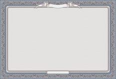 Certificat blanc Image stock