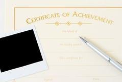 Certificat blanc images libres de droits