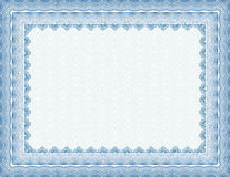 Certificat blanc bloqué de vecteur Photo stock