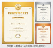 Certificat de calibre d'accomplissement dans le vecteur Image libre de droits