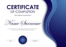 Certificat de calibre d'achèvement illustration stock