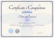 Certificat de calibre d'achèvement dans le vecteur avec le fleuriste Images stock