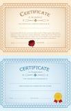 Certificat de calibre d'achèvement diplôme Image libre de droits