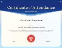 Certificat de calibre d'assistance dans le vecteur Images stock