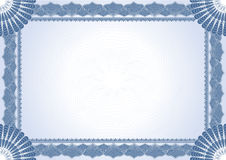 Certificat de diplôme Images stock
