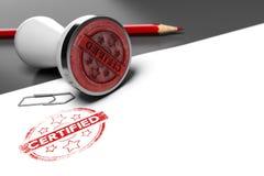 Certificat de garantie illustration libre de droits