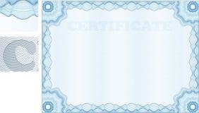Certificat de guilloche Photos libres de droits