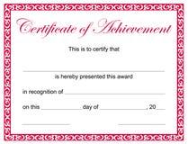 Certificat de l'accomplissement illustration libre de droits