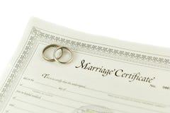 Certificat de mariage photographie stock libre de droits