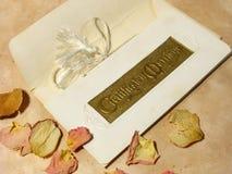 Certificat de mariage de cru Photographie stock libre de droits