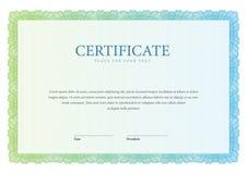 Certificat de vintage Diplômes de calibre, devise Images libres de droits