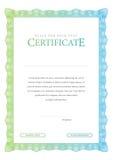 Certificat de vintage Diplômes de calibre, devise Photos libres de droits