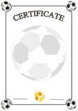 Certificat du football photographie stock