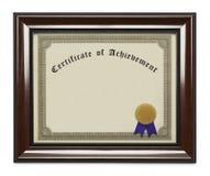 Certificat encadré d'accomplissement photos libres de droits