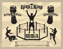 Certificat mélangé d'arts martiaux de MMA Image libre de droits