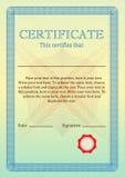 Certificat ou diplôme de l'achèvement Certificat de l'accomplissement Photo stock