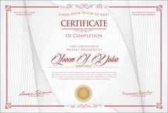 Certificat ou rétro conception de vintage de diplôme images libres de droits