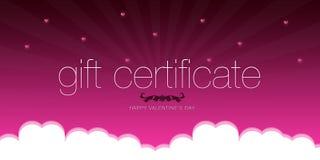 Certificat-prime heureux du jour de Valentine illustration stock