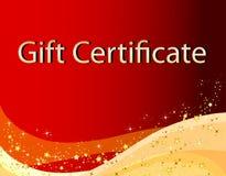 Certificat-prime rouge de Noël Photo libre de droits