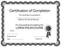 Certificate Stock Photos