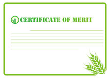 Certificate. Blank agriculture certificate on white Stock Photography