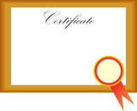 Certificate Stock Image