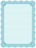Certificate. Blank printable certificate frame / template Stock Photography