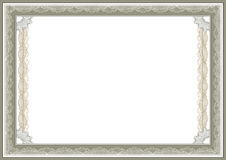 Certificate. Empty certificate template with guilloche border, great for awards and diploma Stock Photos