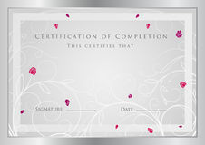 Certificate / Diploma award template. Pattern Stock Images