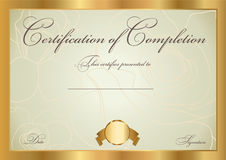 Certificate / Diploma award template. Pattern Stock Photos