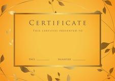 Certificate / Diploma award template. Pattern Royalty Free Stock Image