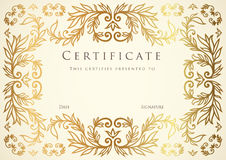 Certificate / Diploma award template. Pattern Stock Image