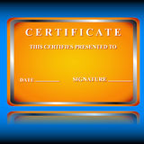 The certificate Royalty Free Stock Photos