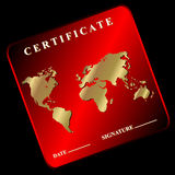 The certificate Stock Image