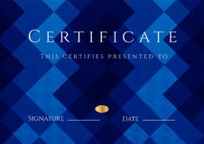 Certificate / Diploma award template. Pattern Stock Photography