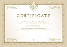 Certificate_1 Fotografia Stock Libera da Diritti