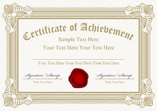 Certificate of achievement Stock Photos