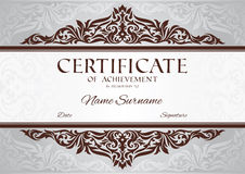 Certificate of achievement Stock Photo