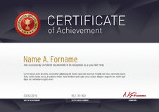 Certificate of Achievement Stock Photography