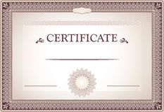 Certificate of achievement design Stock Photo