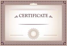 Certificate of achievement design Stock Photo