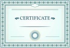 Certificate of achievement design Stock Photos