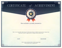 Certificate of achievement design template Royalty Free Stock Image