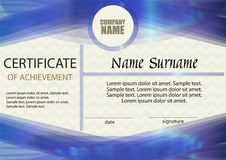 Certificate of achievement or diploma template. vector illustration